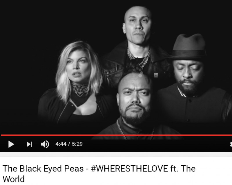 where is the love black eyed peas essay Where is the love song analysis where is the love where is the love-black eyed peas group info i feel the weight of the world on my shoulder (1.