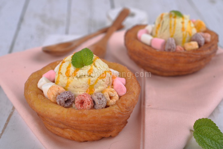 Resep Churros Ice Cream Bowls