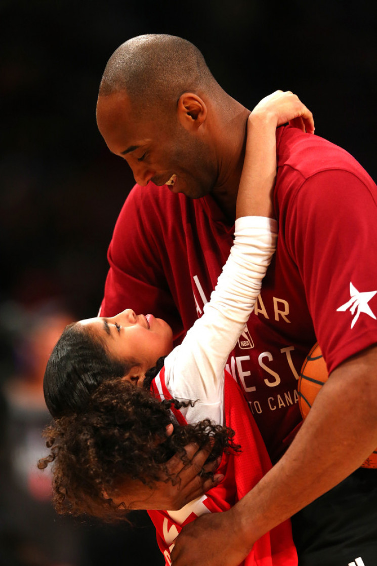Kobe Bryant dan Gianna di NBA All-Star 2016. (Us Weekly)