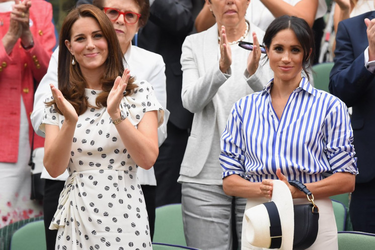 Kate Middleton dan Meghan Markle. (Twitter)