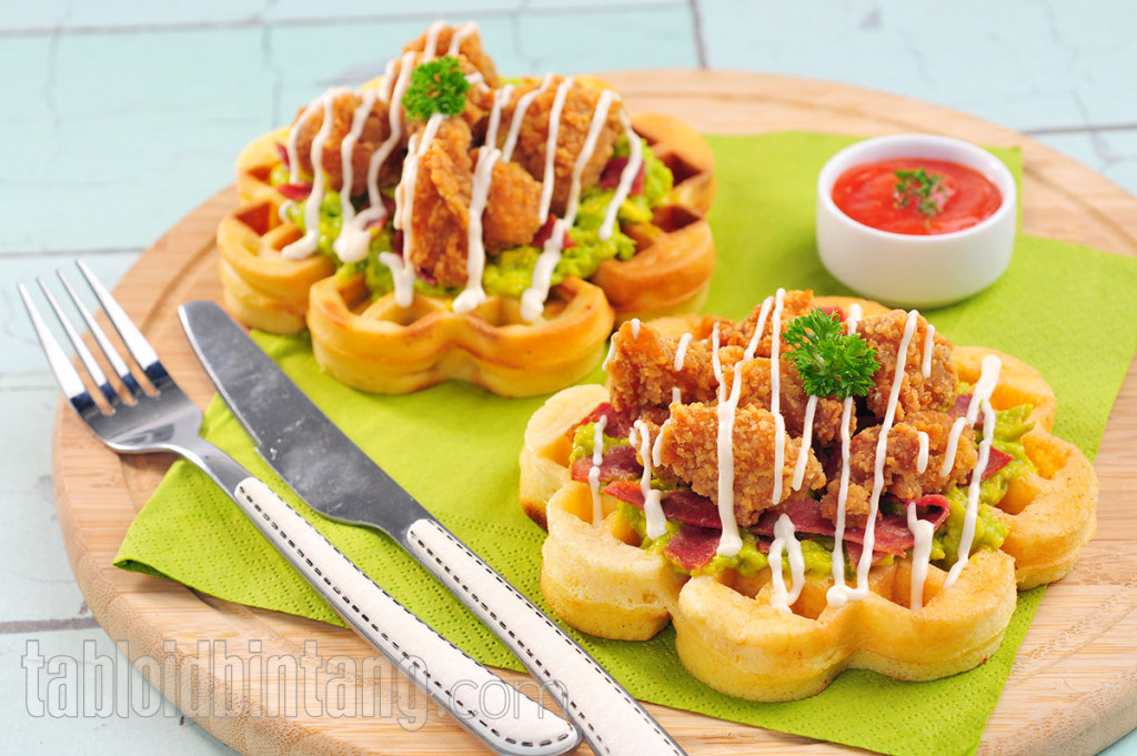 Resep Waffle Lezat: Mexican Chicken Waffle