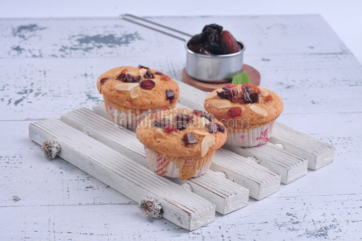 Resep Almond Date Muffin