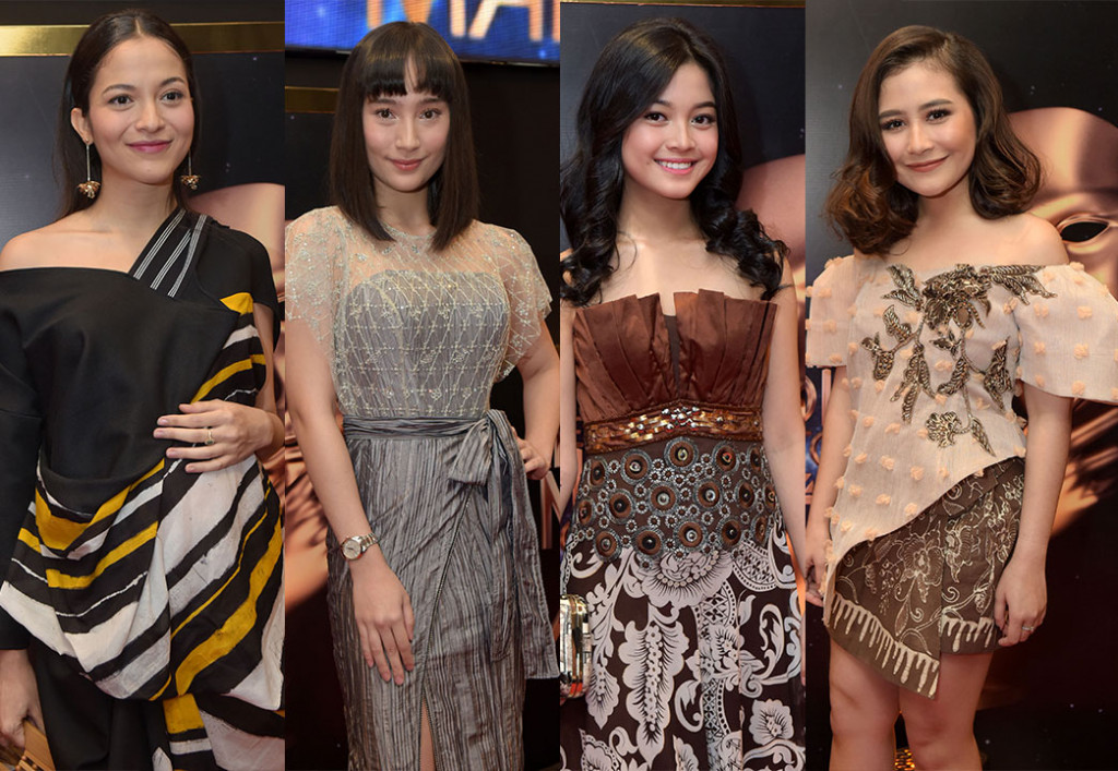 Parade Busana Selebriti Wanita di Indonesian Movie Actors Awards 2018