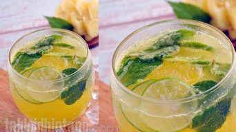 Resep Minuman Soda Kekinian: Pineapple Lime Mint Cooler